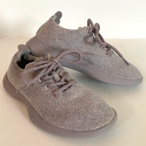 Allbirds Wool Lavender Runners Lace Shoes Size 8